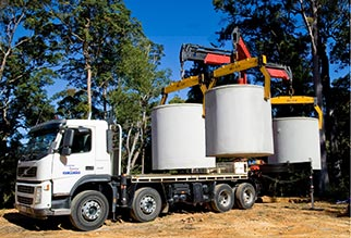 Crane-N-Carry Truck Hire Brisbane - Tank