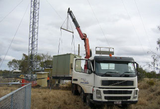 Communication Shelters Huts Crane Truck Hire Brisbane